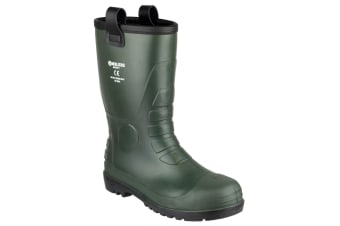 Footsure 97 PVC Rigger Safety Wellingtons / Mens Boots (Green)