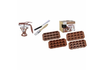 Daudignac My Chocolate Making Set w  Silicone Moulds Brush Spatula Recipe Books