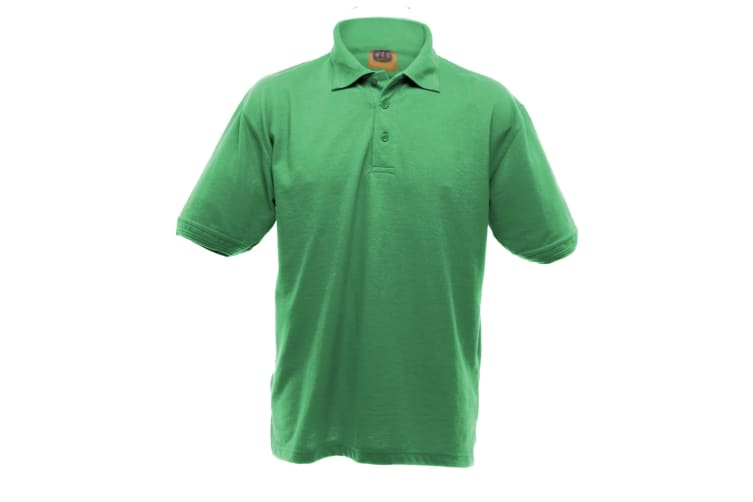 UCC 50/50 Mens Heavyweight Plain Pique Short Sleeve Polo Shirt (Kelly Green) (2XL)