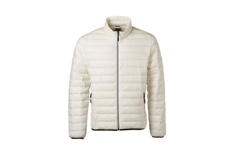 James and Nicholson Mens Light Down Jacket (Off-White/Off-White) (M)