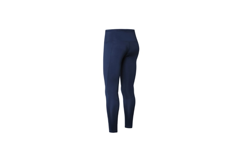 High Waist Yoga Pants For Women Side Pockets With Tummy Control Leggings - Navy Blue L