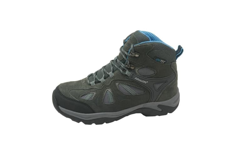 Johnscliffe Adventure Womens/Ladies Suede/Nylon Hiking Boot (Charcoal/Grey/Blue) (9 UK)