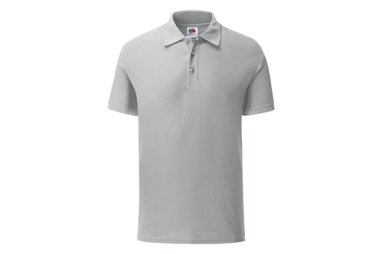Fruit Of The Loom Mens Iconic Pique Polo Shirt (Zinc Grey) (XL)