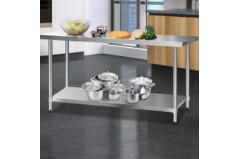 Stainless Steel Kitchen Benches Work Bench Food Prep Table 1829x610