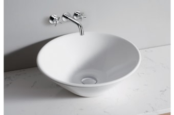 White High Gloss Ceramic Bathroom Sink Basin Above Counter Top (CBR003)