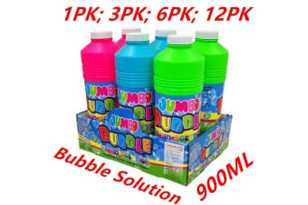 3 x 900ml Jumbo Bubble Solution Bottles for Bubble Wand Kids Summer Toy Non-Toxic