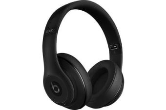 Beats Studio2 Wireless Over-Ear Headphones - Gloss Black - with Active Noise Cancellation