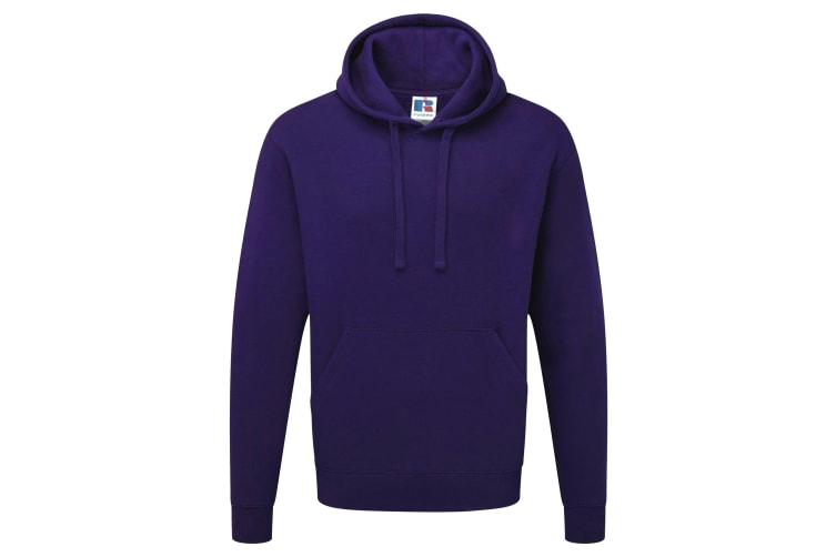 Russell Mens Authentic Hooded Sweatshirt / Hoodie (Purple) (XS)