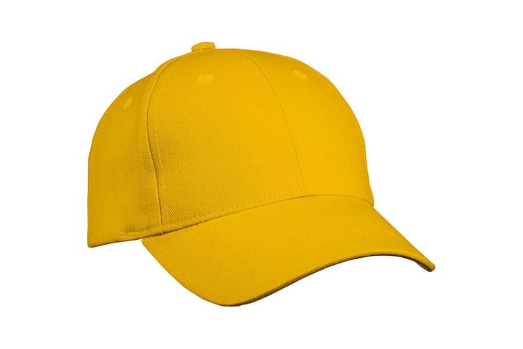 Myrtle Beach Adults Unisex Heavy Cotton 6 Panel Cap (Gold Yellow) (One Size)