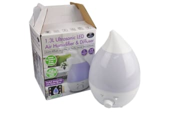 1.3L Electric Ultrasonic Humidifier Aromatherapy Diffuser Steam Mist LED Lamp