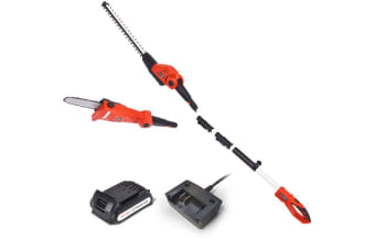 Matrix 20V Pole for Graden Pole Chainsaw Hedge Trimmer Electric Garden Tool 2in1