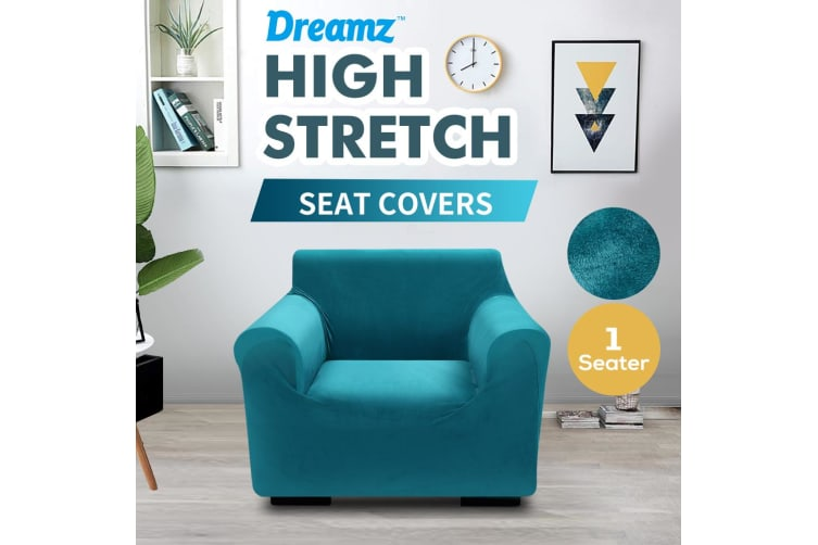 Dreamz Couch Stretch Sofa Lounge Cover Protector Chair Slipcover 1 Seater Green
