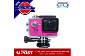 N9Se Portable 30M Waterproof Wi-Fi Loop Recording 1080P Action Camera Pink