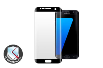 Premium Tempered Glass Screen Protector for Samsung S7 Edge (Black)