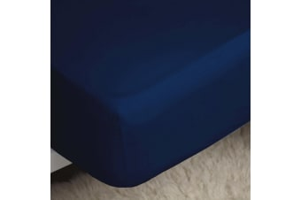 Belledorm 200 Thread Count Egyptian Cotton Fitted Sheet (Navy) (Single)
