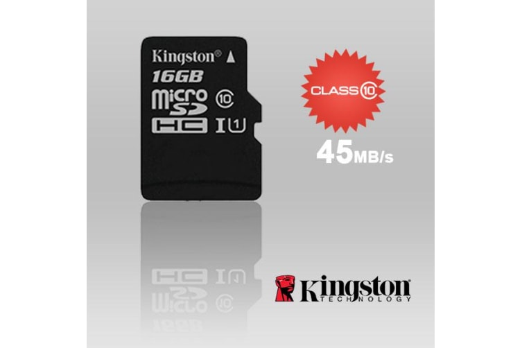 KINGSTON SDC10G2/16GBFR 16GB microSDHC Class 10 UHS-I upto 45MB/s with SD adaptor
