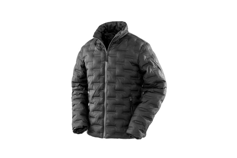 Result Urban Outdoor Mens Ultrasonic Rib Coat (Black) (XXL)