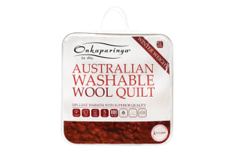 Onkaparinga Australian Wool Washable Winter Quilt (King)