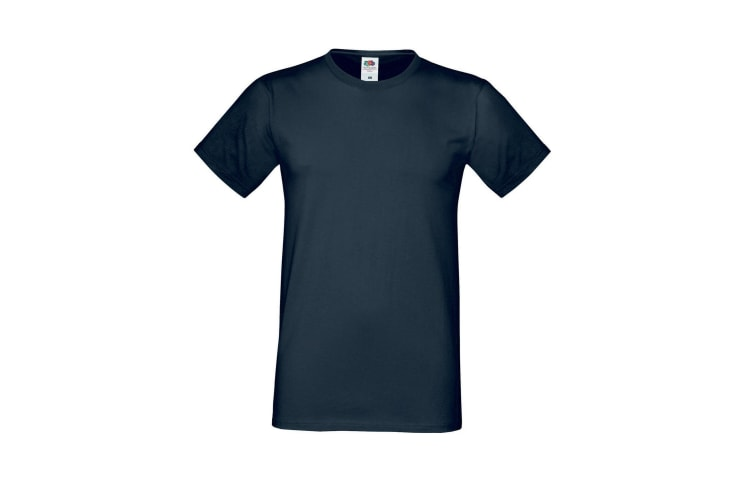 Fruit Of The Loom Mens Sofspun® Short Sleeve T-Shirt (Black) (3XL)