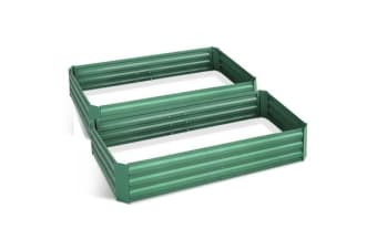 Green Fingers 210cm x 90cm Raised Garden Bed (Green)