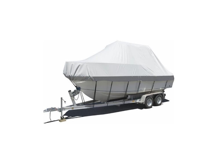 Kaiser Boating 25-27ft 7.6-8.2m Jumbo T-Top Hard Top Bimini Top Centre Console Boat Cover - Premium Heavy Duty 600D Marine Grade Oxford Polyester, Trailerable, Waterproof, UV Resistant