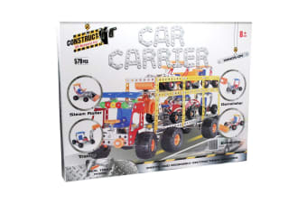 Construct It Kit - Car Carrier with 4 Cars - 579 Pieces