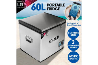 Kolner 60L Portable Fridge Cooler Freezer Camping with LG Compressor