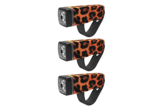 3PK Knog Pop I Bike Front LED Bicycle Light/Torch Sports Cycling/Weather Leopard