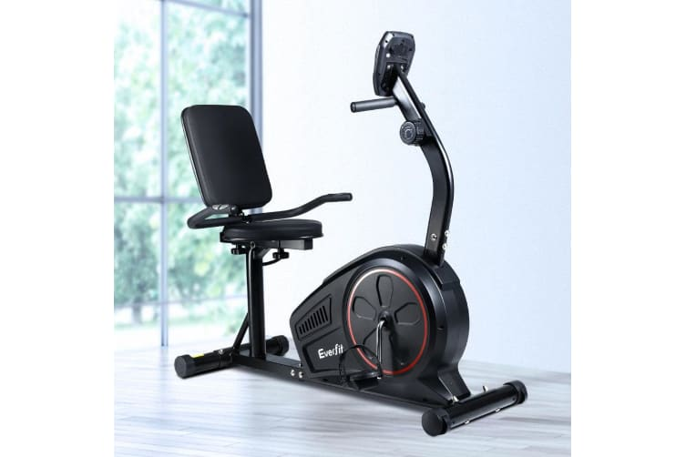 Magnetic Recumbent Exercise Bike Fitness Cycle Trainer Gym Equipment