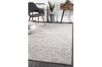 Amelia Grey & Bone Ivory Coastal Durable Rug 230x160cm