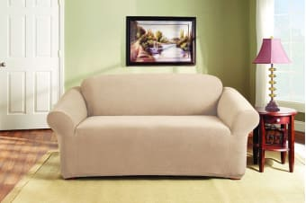 SureFit Pearson 2 Person Sofa Cover (Ivory)