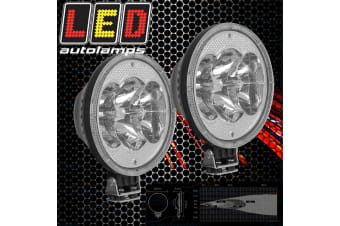 "2X LED AUTOLAMPS 9"" 229MM CREE SPOT DRIVING LAMPS LIGHTS NEW SPOT LAMPS LIGHTS"