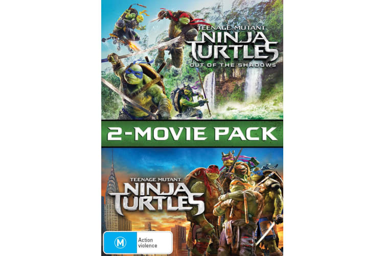 Teenage Mutant Ninja Turtles 2 Movie Pack DVD Region 4