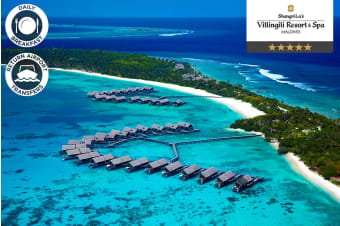 MALDIVES: 3 or 5 Nights at Shangri-La's Villingili Resort & Spa for Two