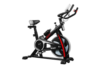 Genki Spin Bike Excercise Recumbent Bicycle Home Gym Equipment Black
