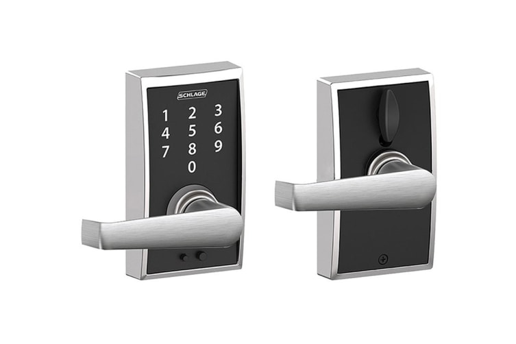 Schlage Touch Keyless Touchscreen Lever with Century Trim and Elan Lever (Satin Chrome)