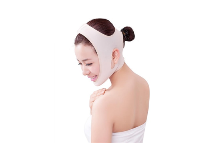 Full Face Style Anti Wrinkle Face Slimming Cheek Lift Mask L