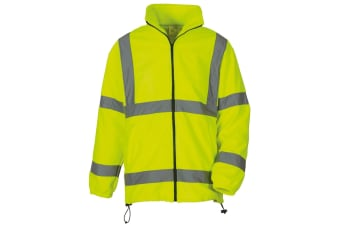 Yoko Mens Hi Vis Heavyweight Fleece Jacket (Yellow) (L)