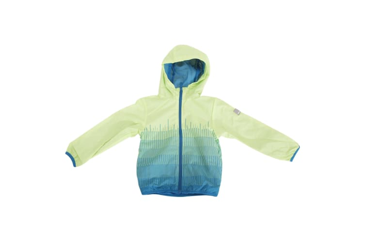 Bench Childrens/Kids Instant Zip Up Hooded Jacket (Green/Blue) (11-12 Years)