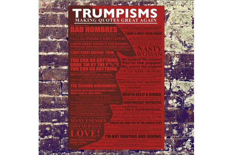 Trumpisms Trump Making Quotes Great Again Poster 61 x 91.5cm