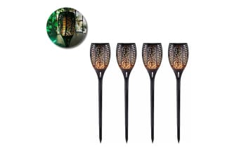 4PK LED Outdoor Solar Torch Light