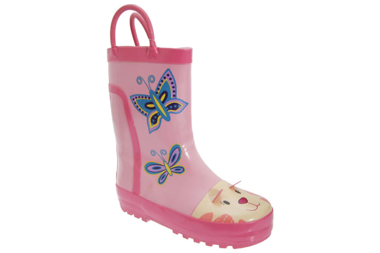 Cotswold Childrens Puddle Boot / Girls Boots (Pink) (24 EUR)