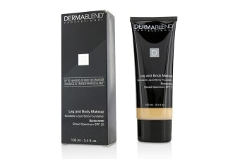 Dermablend Leg and Body Make Up Buildable Liquid Body Foundation Sunscreen Broad Spectrum SPF 25 - #Fair Ivory 10N 100ml