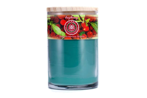 Terra Essential Scents Hand-Poured Soy Candle - Bayberry (12oz)