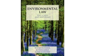 Environmental Law - Text, Cases, and Materials