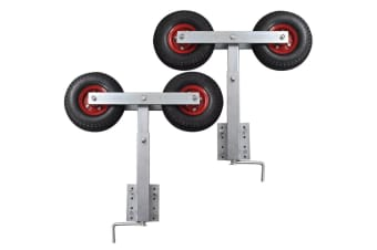 vidaXL Boat Trailer Double Wheel Bow Support Set of 2 59 - 84 cm