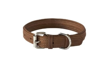 Rogz Leather Buckle Collar Brown - XS