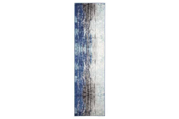 Transpose Blue Transitional Rug 400x80cm