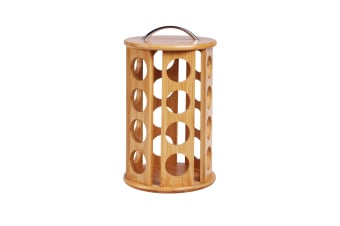 Sherwood Bamboo Coffee Pod Carousel 24 Pod Capacity (Designed for K-cups)
