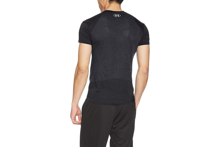 Under Armour Men's Threadborne Swyft Tee (Black/Reflective, Size Extra Large)